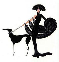 Erté, Symphony in Black, original 1930's, reprinted 1983