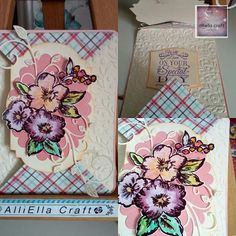 AlliElla Craft: Double Point Fold Card