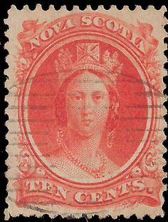 Forged Queen Victoria Stamps of Nova Scotia. Crown Colony, Canadian Coins, Canada, Queen Victoria, Stamp Collecting, Altered Books, Nova Scotia, Vintage Colors, Postage Stamps