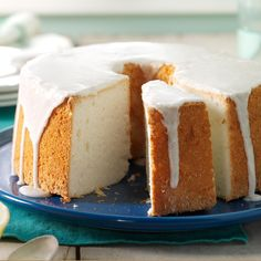 Vanilla Bean Angel Food Cake Recipe -Angel food cake is everyone's favorite blank slate for making awesome desserts. Serve it with a simple glaze or pile on fresh fruit, chocolate sauce or nutty sprinkles. —Leah Rekau, Milwaukee, Wisconsin