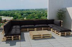 Muebles De Jardin Baratos Jard N 20 Ideas Hechos Con Palets Sofa Grande Cojines Negros