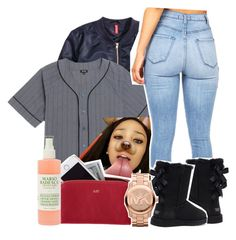 """""""Basketball Game"""" by xomadibbyyy ❤ liked on Polyvore featuring H&M, LRG, Victoria's Secret, Mark & Graham, Mario Badescu Skin Care and Michael Kors"""