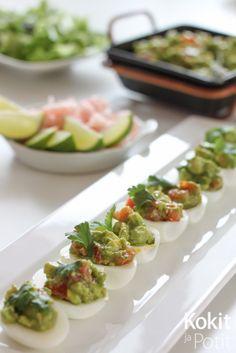 Kokit ja Potit: Guacamolella täytetyt kananmunat