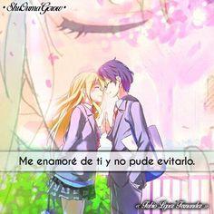 Me enamore #ShuOumaGcrow #Anime #Frases_anime #frases