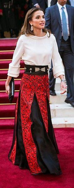 Resultado de imagen de looks rania de jordania
