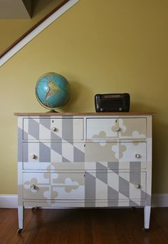 adorable.. Old Line State Dresser with custom mixes of Annie Sloan Chalk Paint