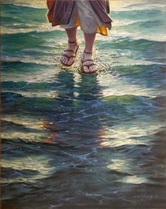 Here is a readers' theater setting of Matthew 1 4 : 2 2 (Jesus walking on the water), one of the suggested scripture texts for Augus. Pictures Of Jesus Christ, Bible Pictures, Jesus Walk On Water, Image Jesus, Jesus Photo, Jesus Wallpaper, Religious Wallpaper, Lds Art, Christian Pictures