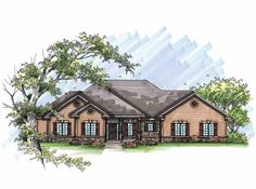 Ranch House Plan with 2553 Square Feet and 4 Bedrooms(s) from Dream Home Source | House Plan Code DHSW65946