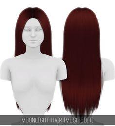 MOONLIGHT HAIR (MESH EDIT) at Simpliciaty • Sims 4 Updates