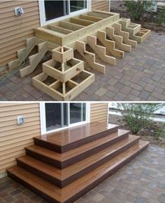 Home Discover Deck stairs - 27 gorgeous patio deck design ideas to inspire you updowny com Outdoor Projects Home Projects Project Projects Backyard Projects Types Of Stairs Deck Stairs Wood Stairs Front Porch Stairs House Stairs Woodworking Plans, Woodworking Projects, Woodworking Classes, Woodworking Shop, Woodworking Machinery, Woodworking Techniques, Woodworking Furniture, Woodworking Jointer, Unique Woodworking