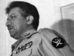 "The arm patch on the military uniform of Pakistan's President, General Pervez Musharraf, tells a number of tales. Against a black, circle background we find the familiar crescent moon and star of Islam (actually, pagan origin, being representative of Diana, the witchcraft ""star"" and ""moon"" Goddess) as well as the two crossed swords (in the pagan era, a sign of Mars, God of war). It is doubtful Musharraf has any idea of the actual meaning of these symbols."
