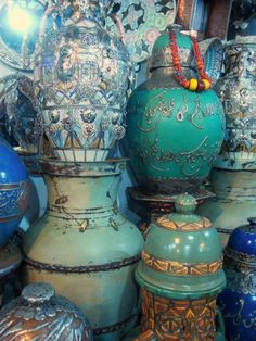 Moroccan Pottery With Sea Blue Hues