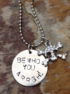 Be Who You Arrgh ECU Pirate Necklace by LilaNashDesigns on Etsy, $30.00