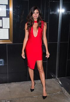 Red hot: All eyes were on Sara Sampaio once again as she rang in her 25th birthday during a celebration at Butter restaurant in New York City on Wednesday