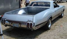 "Oldsmobile 442 ""El Camino"" conversion with Vista cruiser wagon Tailgate Hot Rod Trucks, Cool Trucks, Cool Cars, Weird Cars, Pickup Car, Pickup Trucks, Gm Trucks, Custom Trucks, Custom Cars"