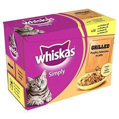 Aus der Kategorie Whiskas  gibt es, zum Preis von EUR 79,99  Whiskas Simply Cat Pouch Poultry Jelly 12 x 85g (PACK OF 6)