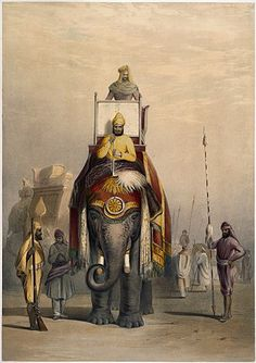 A Mughal Warrior in Armour in India by Lord Weeks 7x5 Inch Print