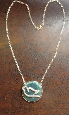 Necklace-Silver bird geren akik stone