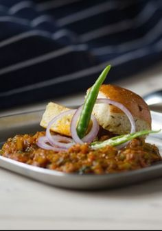 Bombay spiced vegetables with truffled pao