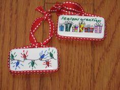 domino Christmas ornament turtorial