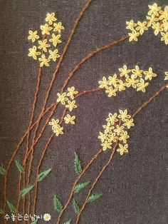 Wonderful Ribbon Embroidery Flowers by Hand Ideas. Enchanting Ribbon Embroidery Flowers by Hand Ideas. Embroidery Needles, Silk Ribbon Embroidery, Hand Embroidery Patterns, Diy Embroidery, Cross Stitch Embroidery, Embroidery Designs, Geometric Embroidery, Bordado Floral, Noctis