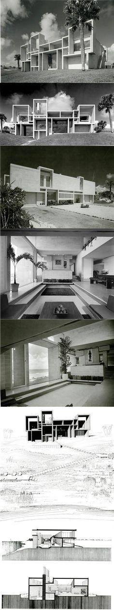 1959-1961 Paul Rudolph - Milam Residence / Jacksonville Florida USA / concrete / white