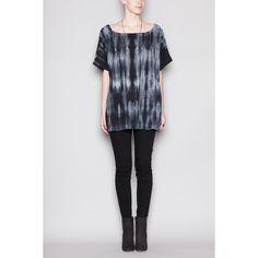 Tie Dye Kimono Top ($136) ❤ liked on Polyvore