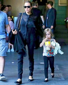 Angelina Jolie, Daughter Vivienne Wear Matching Outfits on Day Out - Us Weekly