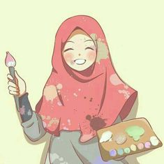 The scarf is a vital element in the apparel of girls along with hijab. As it is the central accessory which t Cartoon Kunst, Cartoon Art, Cartoon Girl Images, Girl Cartoon, Muslim Images, Hijab Drawing, Islamic Cartoon, Hijab Cartoon, Islamic Girl