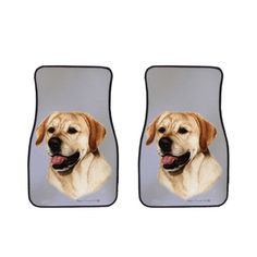 Labrador Retriever Car Mats by Artist Tamara Burnett, click or dial 1-844-446-4DOG for Labrador Retriever car mats and gifts that donate to help feed shelter dogs in the USA.