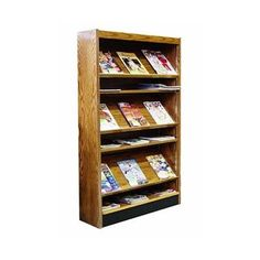 W.C. Heller Single Face Magazine Shelving with Backs Finish: Bleached Mahogany