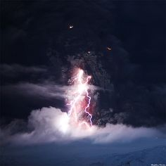 The Dark Tower - Eyjafjallajökull Erupting by skarpi - www.skarpi.is