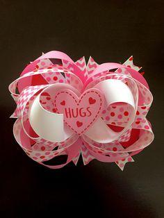 Hugs valentine hairbow  ❤️🎀