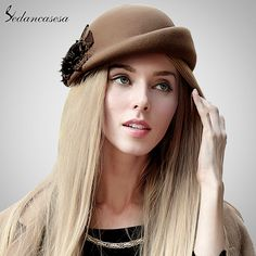Beret Hat women autumn winter Korean bowler retro British beret hat for warm Australian wool felt hat gift Do you want it #shop #beauty #Woman's fashion #Products #Hat