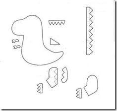 Resultado de imagen para patrones dinosaurios patchwork