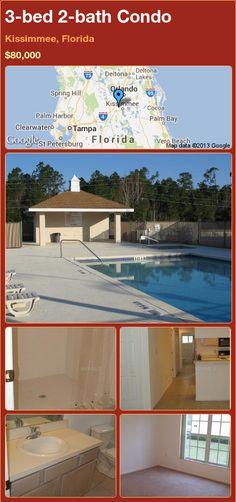 3-bed 2-bath Condo in Kissimmee, Florida ►$80,000 #PropertyForSale #RealEstate #Florida http://florida-magic.com/properties/20898-condo-for-sale-in-kissimmee-florida-with-3-bedroom-2-bathroom