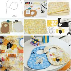 How To Make Baby Bibs step by step DIY tutorial instructions | How To Instructions