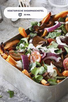Heerlijke vegetarische shoarmaschotel die binnen 30 minuten op tafel staat. #vegetarischerecepten #makkelijkerecepten #lekkererecepten
