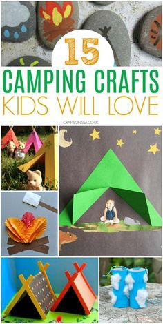15 Fantastic Camping Crafts For Kids Love the great outdoors? Inspire your kids imagination with these fun camping crafts for kids, easy ideas they'll love including campfire crafts, tents, lanterns and more. Kids Crafts, Camping Crafts For Kids, Summer Crafts For Kids, Crafts For Kids To Make, Camping With Kids, Preschool Crafts, Projects For Kids, Campfire Crafts, Kids Fun