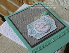 Stampin' with Nanna: Let's Get to Know the New Guys ... A Series on Our New Colors ... Beginning with Smoky Slate