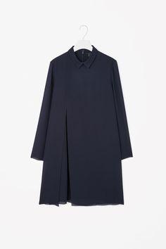 COS   Pleated raw-cut dress