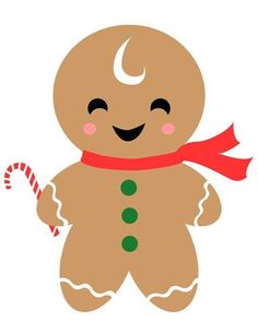 gingerbread man gift tag christmas - Christmas Gingerbread Man
