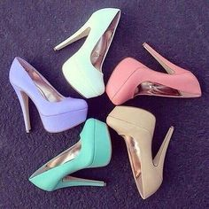 White Pink Beige Purple or Green? Which one is your favorite? Follow @fireonheels for more
