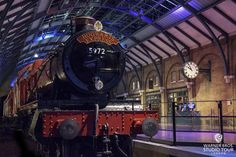 The Hogwarts Express locomotive transported hundreds of students from Platform 9 ¾ to Hogwarts School of Witchcraft and Wizardry. Most of the scenes that take place on Platform 9 ¾ were actually shot on location at King's Cross Station in London, however, during Harry Potter and the Deathly Hallows – Part 2, part of the station platform was recreated on a soundstage here at Leavesden, complete with the track and the train.