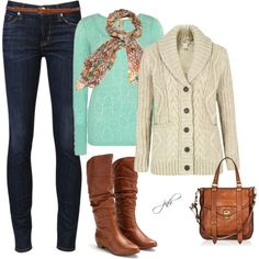 A fashion look from November 2012 featuring Denim & Supply by Ralph Lauren cardigans, BKE tops and Hudson Jeans jeans. Browse and shop related looks.