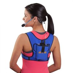 Fitness aerobics instructor microphone transmitter arm pouch