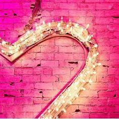 #pink #light #heart #wall