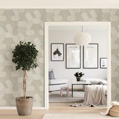 George Oliver Krishna L x W Wallpaper Roll Color: Cream Vinyl Wallpaper, Textured Wallpaper, Wallpaper Roll, Matrix, Krishna, Be Perfect, Gallery Wall, Luxury, Pattern