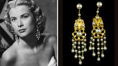 Elles ont porté les Bijoux de Joseff of Hollywood - Grace Kelly dans le film Haute Société - Pendants d'oreilles -1956