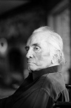 Johnny Cash (1932-2003) - Singer-songwriter, actor, author.  Last Portrait, September 8, 2003, by Marty Stuart